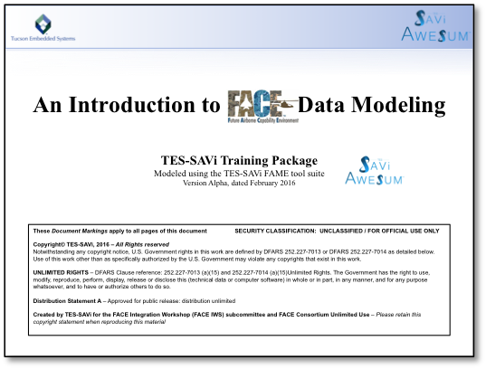 An Introduction to FACE Data Modeling