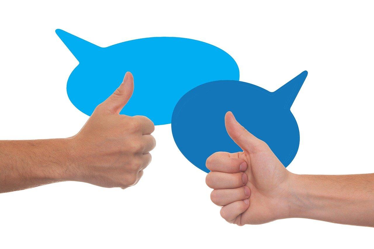 thumb, feedback, confirming